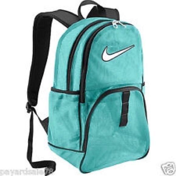 Nike blue mesh backpack --NWOT New, has plenty of pockets/zippers as well as side water bottle holders. Nike Accessories