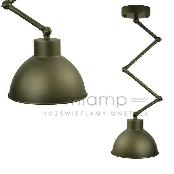 Loftowa LAMPA wisząca IL MIO MOLDE 305404 Polux metalowa OPRAWA industrialny zwis harmonijka stara miedź