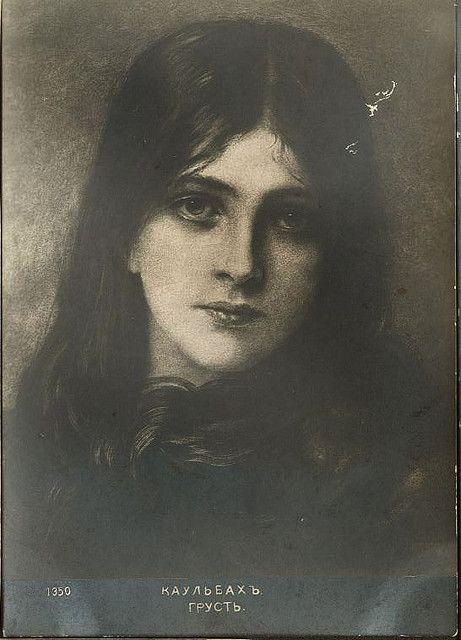 Wilhelm von Kaulbach, portrait of a girl