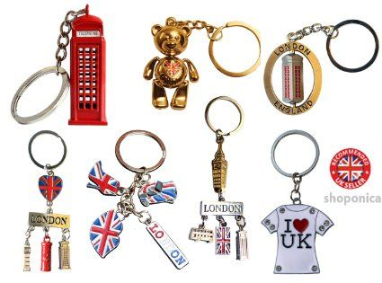 Famous London Icons UK Souvenir Set of 7 Key Rings