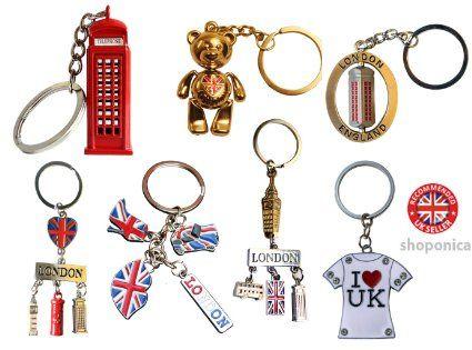 Famous London Icons UK Souvenir Set of 7 Key Rings