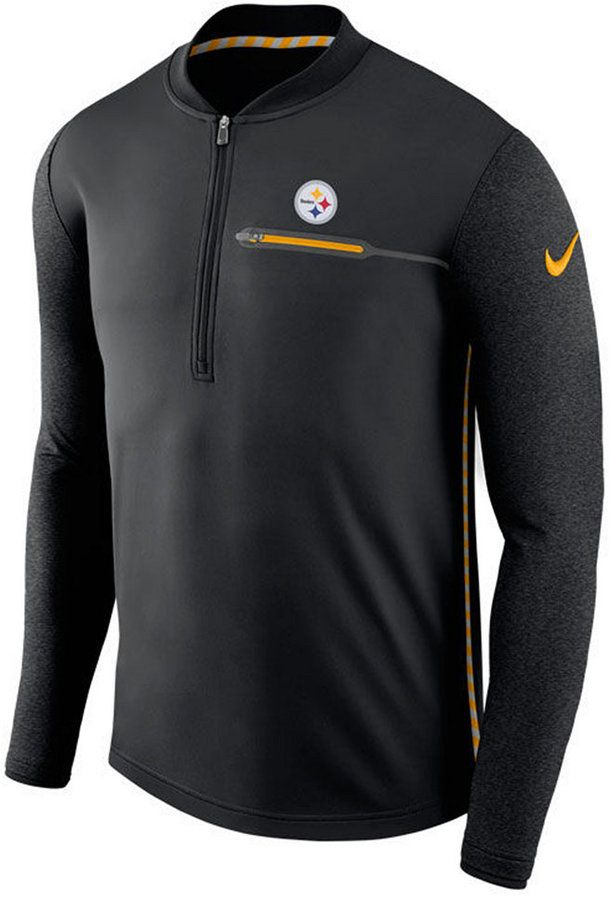 Nike Men's Pittsburgh Steelers Coaches Quarter-Zip Pullover