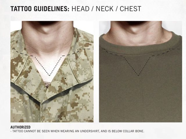 The Marine Corps has a new tattoo policy. Here's your exclusive first look