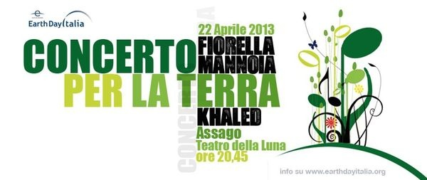 Earth Day Italia: concerto al Forum di Assago con Mannoia e Khaled