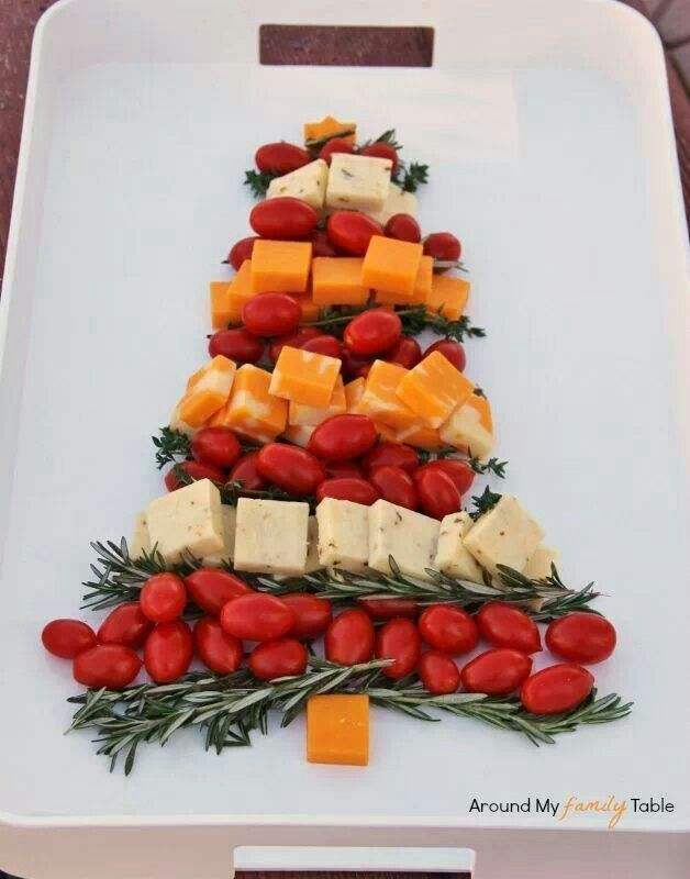 Christmas Tree Cheese Board - red grapes, cherry tomatoes or olives. Description from pinterest.com. I searched for this on bing.com/images