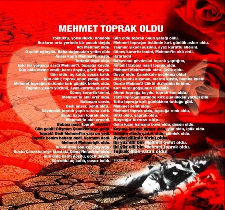 Çanakkale Savaşı şiir Mehmetçik şiirleri