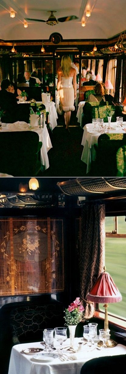 Travel in style on the Orient-Express with someone special all dressed up