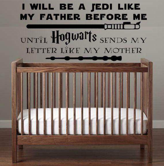 Star Wars Hogwarts Harry Potter Nursery Decal I by ApareciumDesign