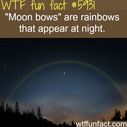 Moon bows- WTF fun facts - http://didyouknow.abafu.net/facts/moon-bows-wtf-fun-facts