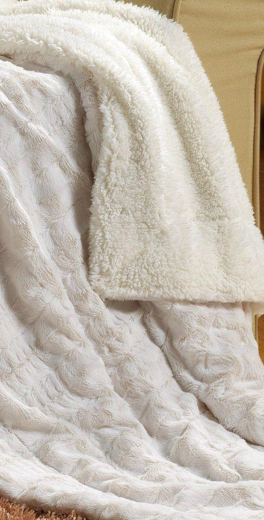 Tache Polar Fuax Fur With Sherpa Throw | Tache Home Fashion