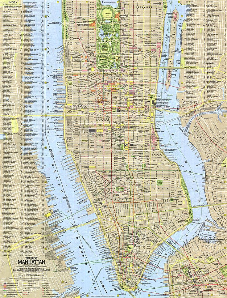 Tourist Manhattan Map 19 best Maps images