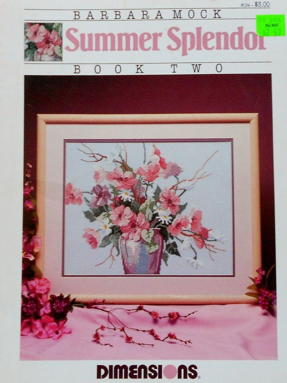 Vintage Barbara Mock SUMMER SPLENDOR Floral Bouquet - Counted Cross Stitch Pattern Chart on Etsy, $5.21 AUD