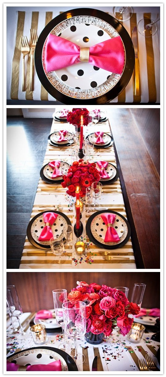 Fashionably Wed: Inspiration from Kate Spade - gorgeous for #bridal #shower, #bachelorette dinner, or just a fun girls night | http://partyideacollectionsconner.blogspot.com