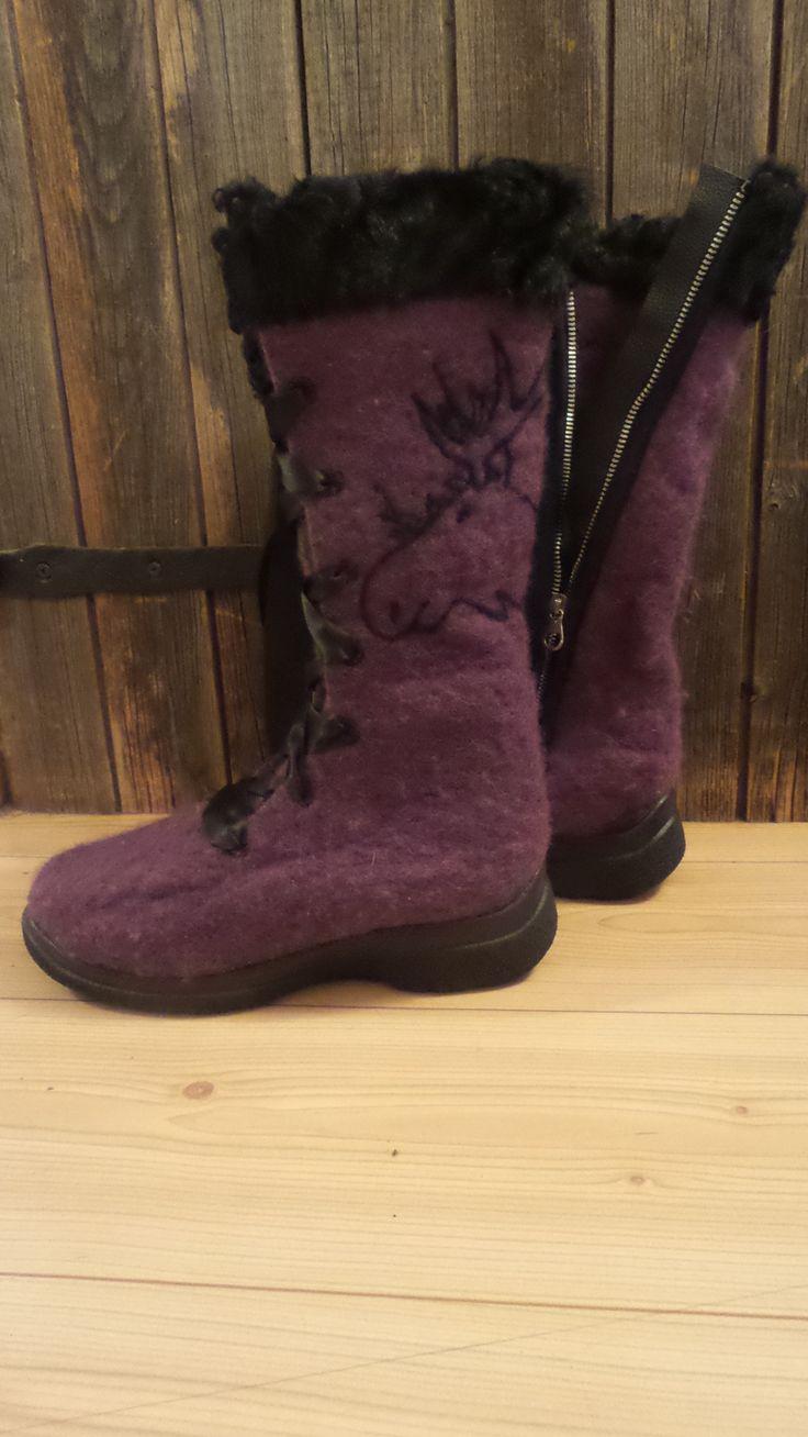 Felt boots for a Huntress!!