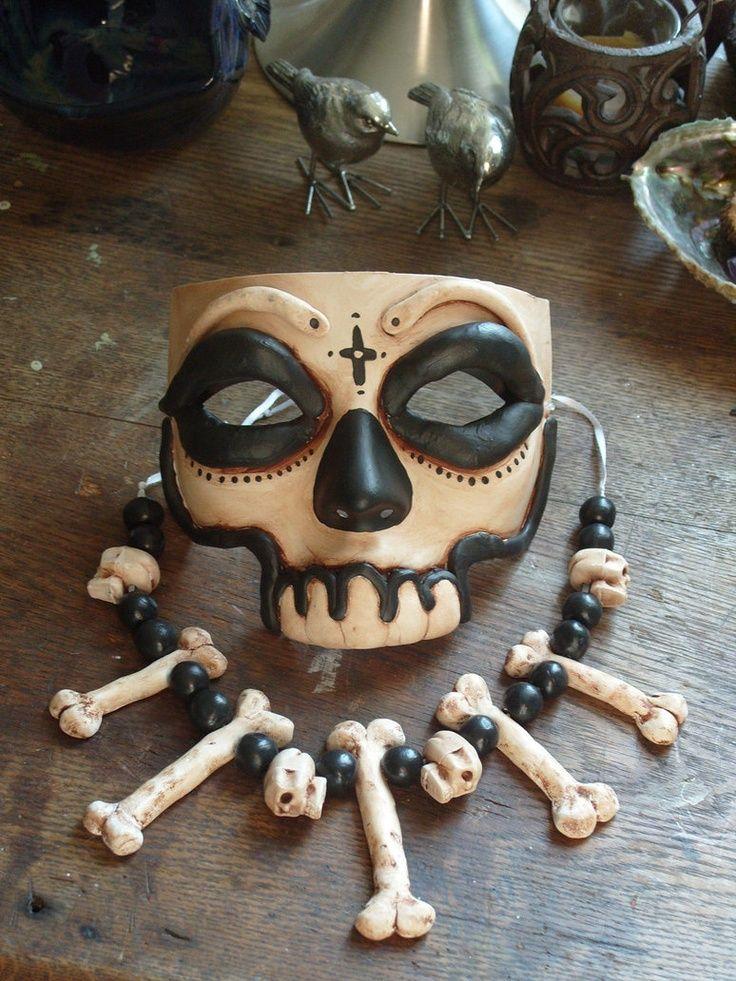 Mask inspired by Baron Samedi. Voodoo shaman mask.