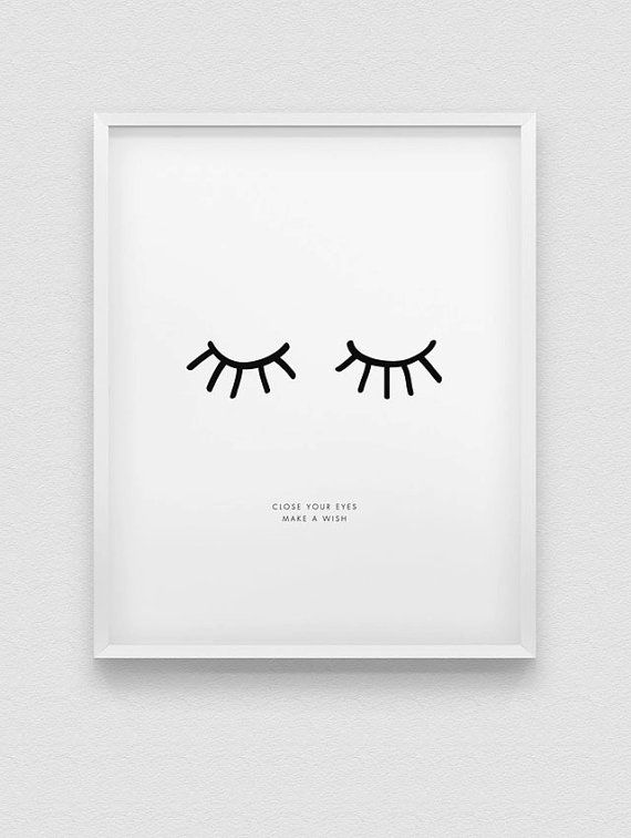 inspirational print // close your eyes make a wish par spellandtell