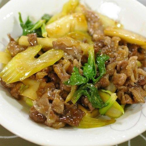 牛肉のコクにセロリの爽やかな風味が合うレシピです。セロリの葉のピラジンは、血行をよくする効果が期待されています。