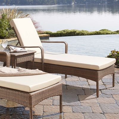 Key Biscayne Chaise Lounge with Cushion Fabric: Regency Sand - http://delanico.com/chaise-lounges/key-biscayne-chaise-lounge-with-cushion-fabric-regency-sand-560069666/