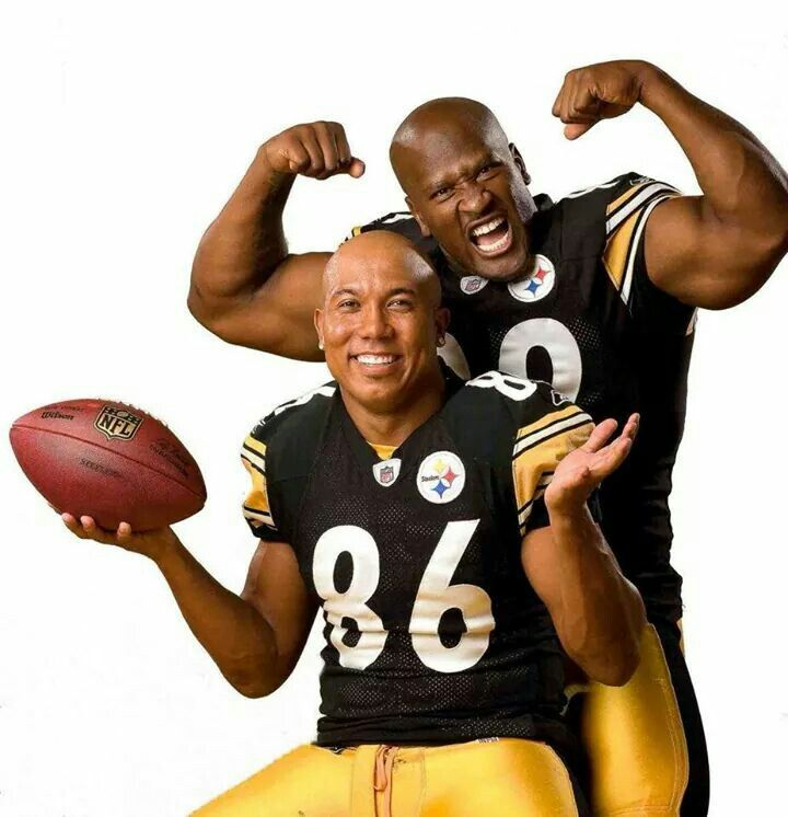 Hines Ward and James Harrison- Steelers now retired that we adore.