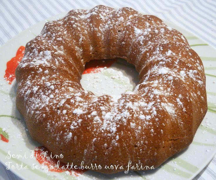 Torta senza uova latte burro farina - Ricetta Torta