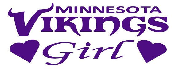 Minnesota  Vikings Girl NFL Football Decals by CheapDecalShop