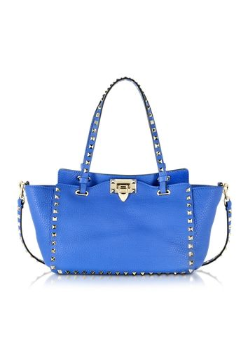 Valentino Rockstud Small Light Sapphire Leather Tote. This is $2,095. Let's pray that this could even be remotely affordable