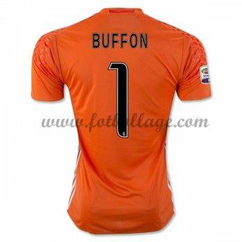 Fotbollströjor Juventus 2016-17 Buffon 1 Målvakt Hemmatröja