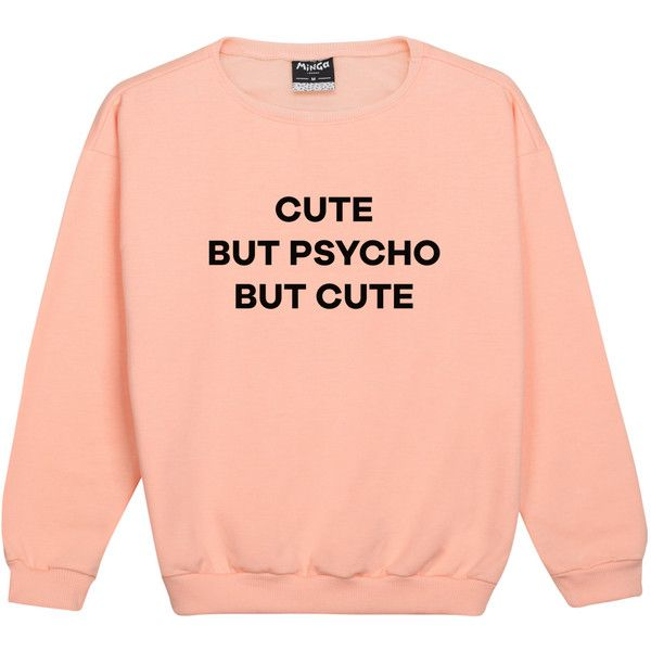 cute but psycho SWEATER JUMPER womens ladies fun tumblr hipster swag... ($20) ❤ liked on Polyvore featuring tops, sweaters, hipster sweaters, goth sweaters, vintage sweaters, red top and star sweater