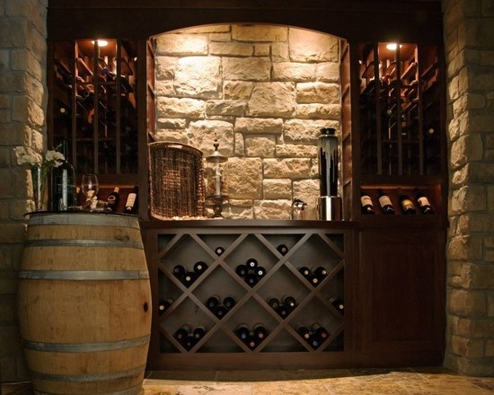 Wine cellar design pictures remodel decor and ideas for Decorating dining room wine theme