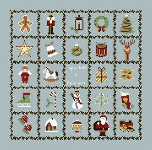 Christmas motifs • could be made up as an advent calendar as there are 24 designs. PDF is free