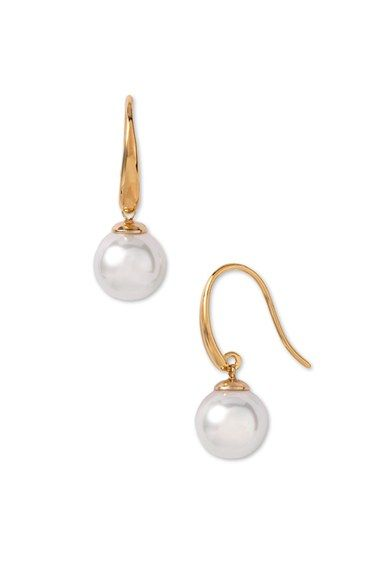 Free shipping and returns on Majorica 10mm Pearl Drop Earrings at Nordstrom.com. Lustrous man-made pearls beneath a swoop of polished metal create elegant drop earrings.