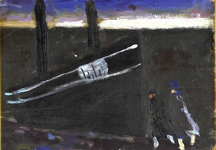 Ragnar Sandberg - Figures with a Boat
