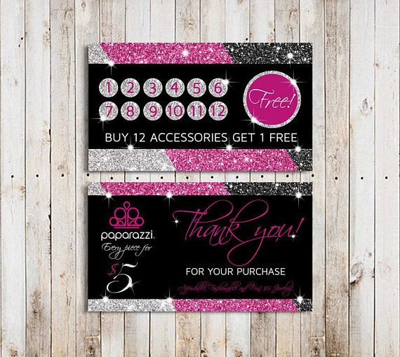 Paparazzi Loyalty Card Instant Download Paparazzi Punch Card Silver Paparazzi Business Cards Jewelry Black Jewelry Business Card Pink Business Card Punch Cards