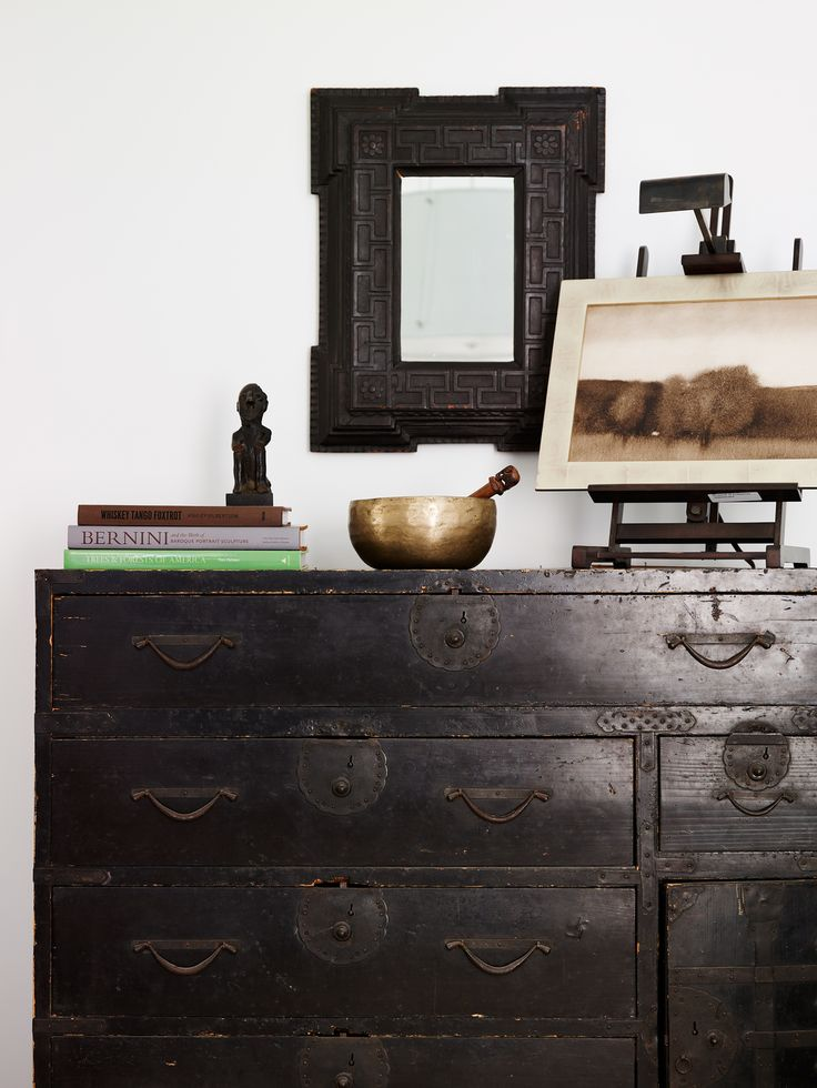 The New Traditional look of designer Darryl Carter from Washington  D.C. -  use antique pieces in unexpected ways and mix with contemporary items in a bright uncluttered space