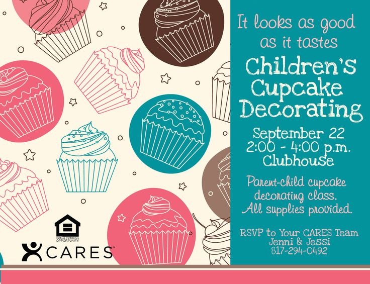 free psd kids flyer templates Children s Cupcake ...