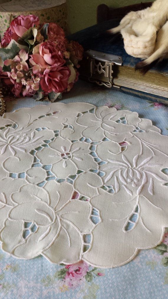 Delightful Vintage Cutwork Embroidered by TheVintageLinenChest