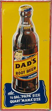 Vintage Dad's Root Beer Sign***Research for possible future project.