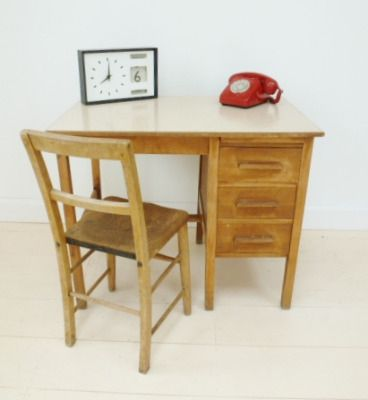 1950s desk  chair