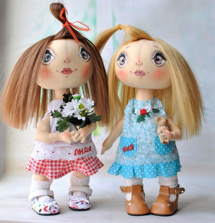 Купить Именные девочки - именная кукла, куклы своими руками, кукла с именем, тыквоголовка