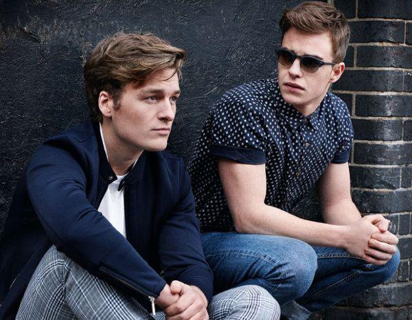 Nico Mirallegro and Matt Stokoe in Sun photoshoot