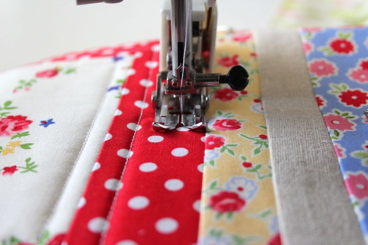 simple straight-line machine quilting