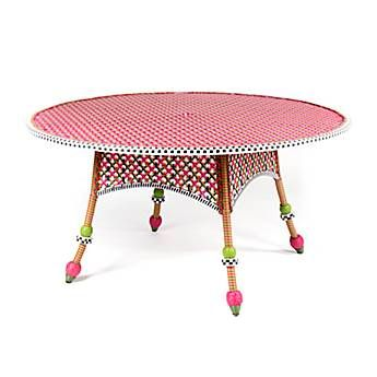 Flower Market Outdoor Round Dining Table