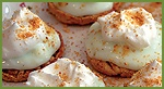 key lime pies with rice cakes! this site has lots of fun lite snacks/meals