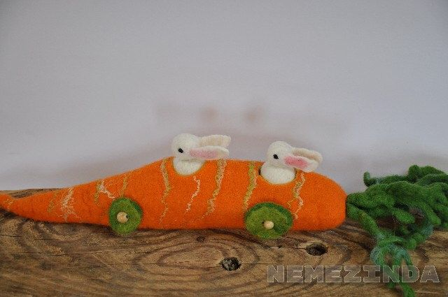 A personal favorite from my Etsy shop https://www.etsy.com/listing/500647198/carrot-car-for-two-bunnies-toy-waldorf