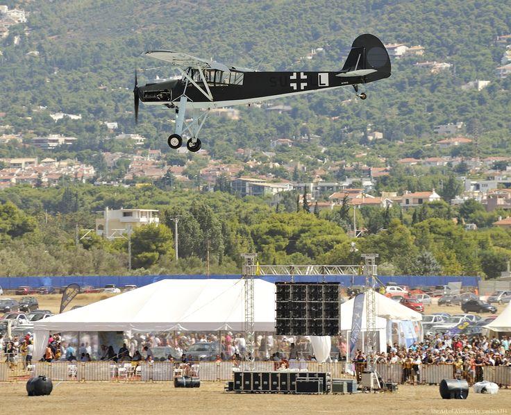 AFW 2015 Fieseler FI-156 Storch κατασκευασμένο το 1949; Αποτελεί πολύτιμο κομμάτι της Athenian Aviators Collection