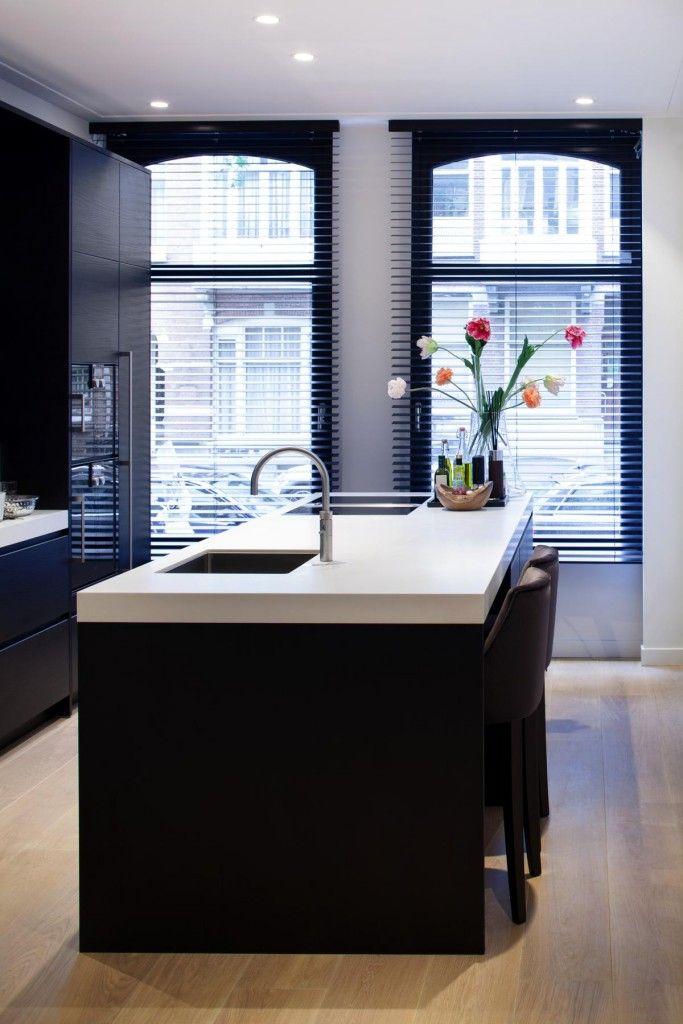 Zwart Witte Keuken : Keuken inspiratie vrijstaand keuken element keukeneiland zorgt voor