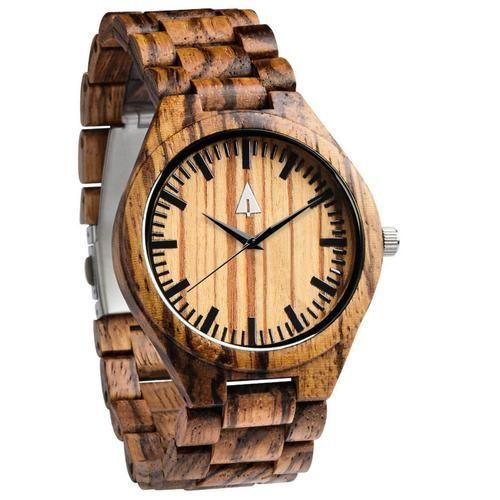 Treehut All Wood Watch // All Zebra wood 41