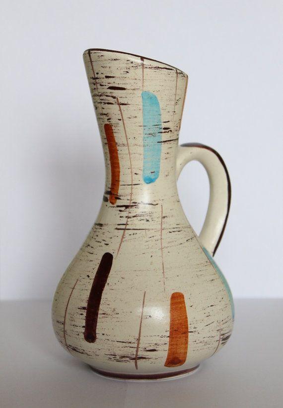 Vase Mid century Modern Design 60er Jahre von BuashkoGarage auf Etsy