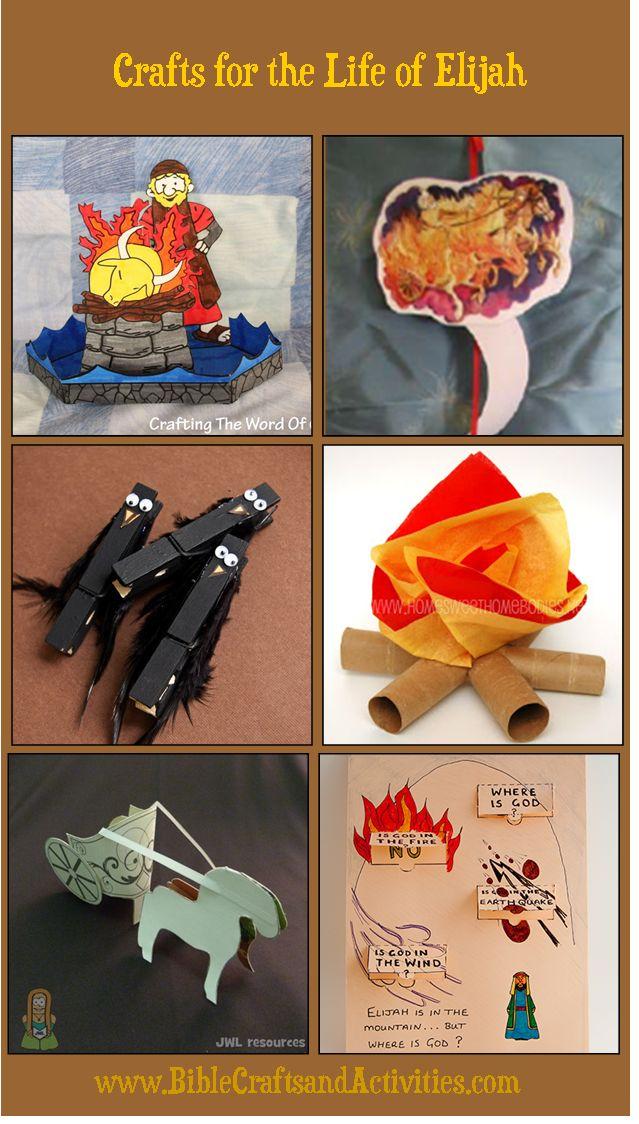 Crafts for Life of Elijah www.BibleCraftsandActivities.com