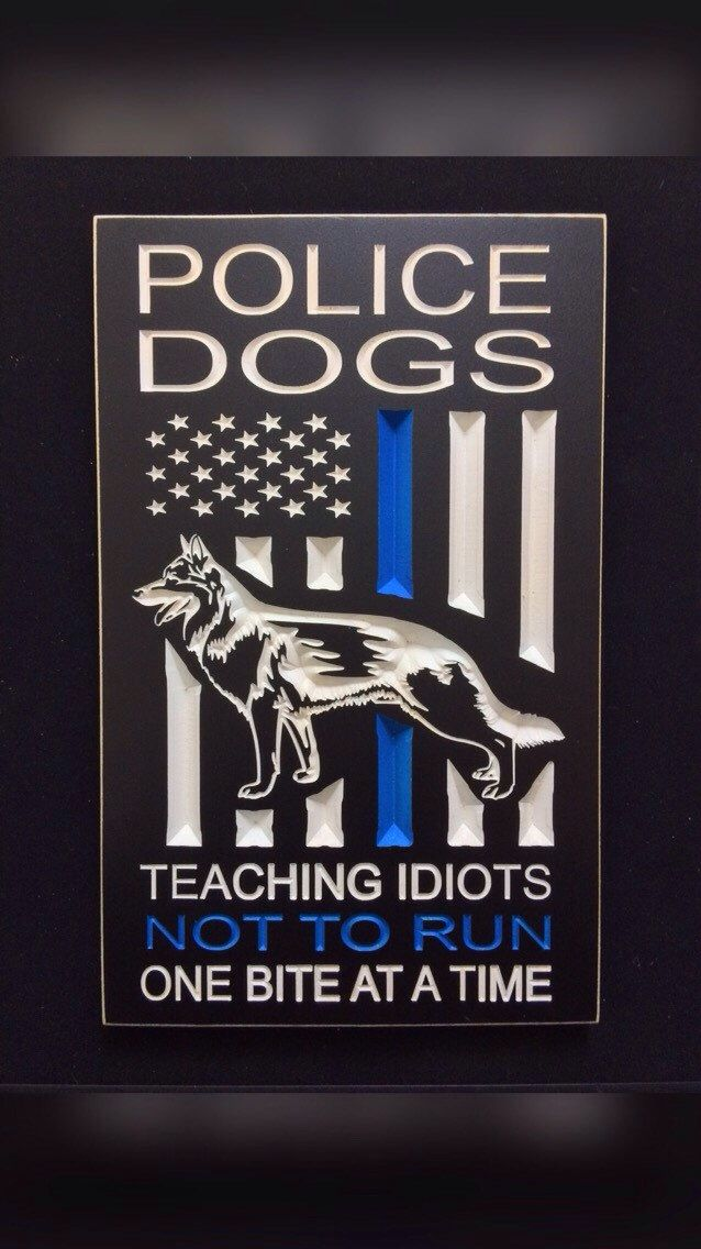 A personal favorite from my Etsy shop https://www.etsy.com/listing/270663806/police-k9-engraved-wood-sign-police-dogs